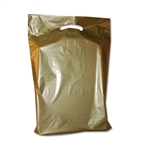 "11"" x 15"" x 3"" Value Color Gold Plastic Bags"