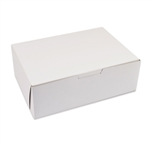 "10"" x 7"" x 3-1/2"" White Donut Bakery Boxes"