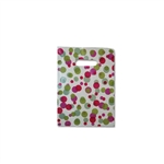 "Fiesta Dots on Clear - Designer Plastic Bags Petite 9"" x 11.5"" x 2"" 500 Bags - 2.9 mil thickness"