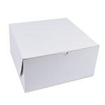 "12"" x 12"" x 6"" Large White Bakery Cake Boxes"