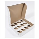 Cupcake Inserts - 12 Cupcakes for Bakery Boxes