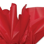 Deep Scarlet Red Coloured Tissue Paper