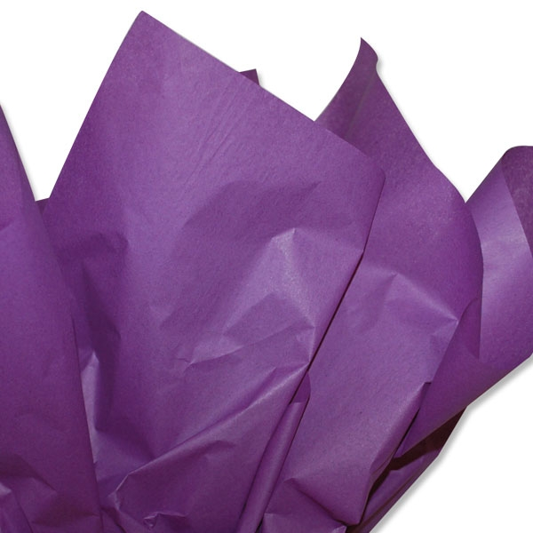 purple tissue paper Tissue papers are available in a wide assortment of brilliant colors and bulk packages you can decorate the party space just by hanging tissue papers from the ceiling to create a soft glow or you can use them to make crafts like pom-pomspremium tissue paper is ideal for crafting, gifting, stuffing and wrapping.