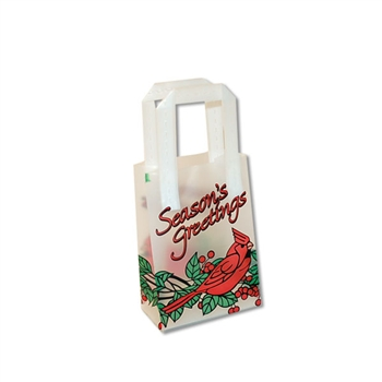 Frosted Petite Reusable Seasons Greetings Cardinal Bags