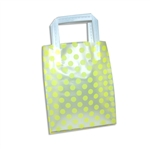 Frosted Petite Reusable Yellow Dots Bags