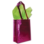 Heavy Metallic Fuchsia Reusable bags 9 x 12 x 5""