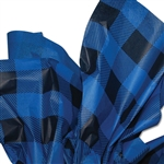 Blue Lumberjack Plaid Patterned Tissue Paper