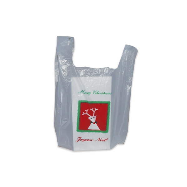 Christmas t shirt plastic bags s1 8 3 4 x 6 x 18 for Holiday t shirt bags