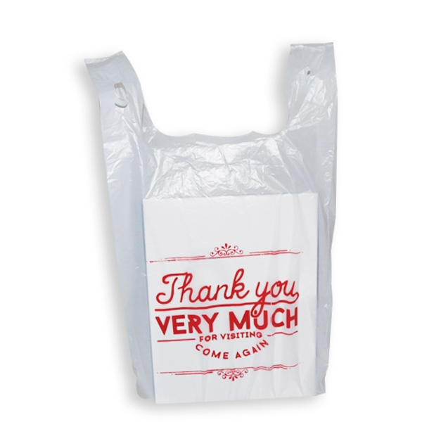Thank you t shirt plastic bags s5 11 1 2 x 7 x 22 1 2 for Plastic bags for t shirts
