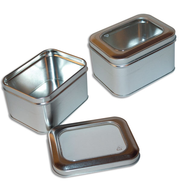 Window tin boxes small rectangle metal tins canada for Small tin containers