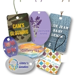 Custom Full Color Digital Tags with Strings-Medium & Large Shapes