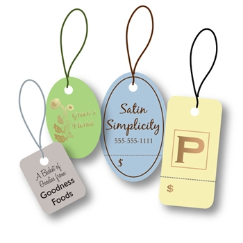 Custom Hot Stamped Tags-Small Shapes